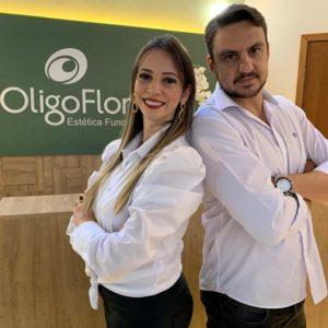 Ingrid Bigotto e Fabiano Semedo OligoFlora Bauru